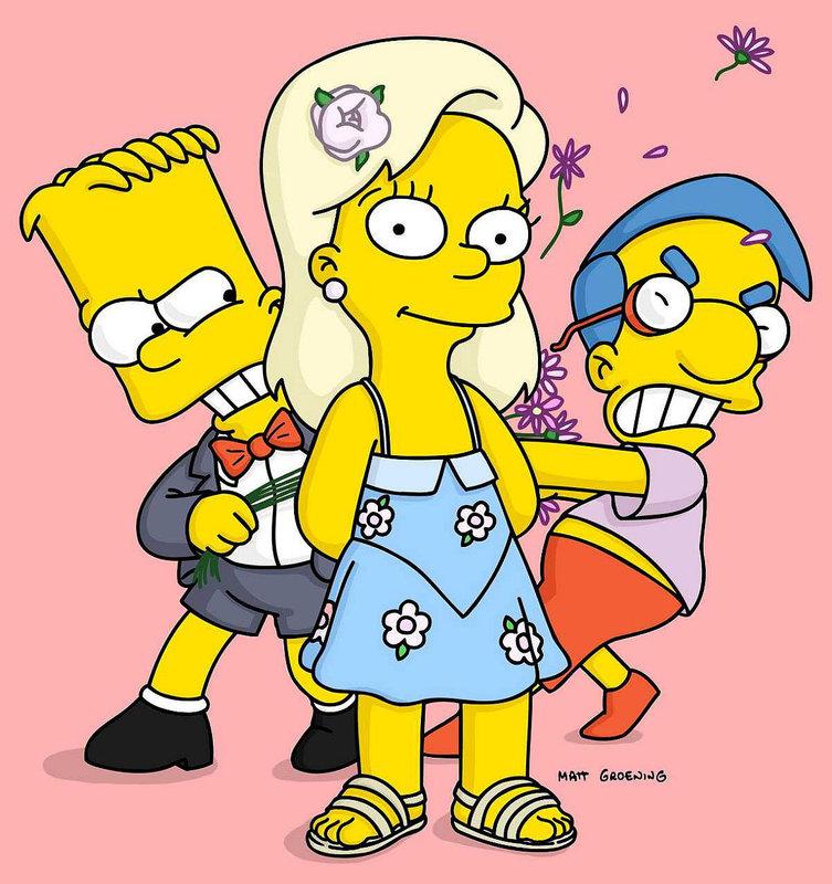 Zwischen Bart und Milhouse ist ein Streit um Gretas Gunst entbrannt. – Bild: ORF eins