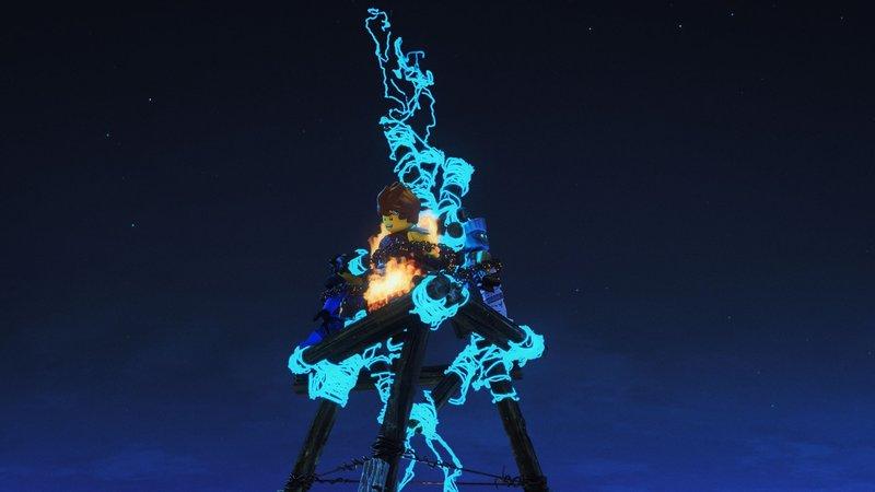Jay, Kai und Zane werden von dem Eisenbaron als Köder für die Drachenjagd benutzt. – Bild: Super RTL