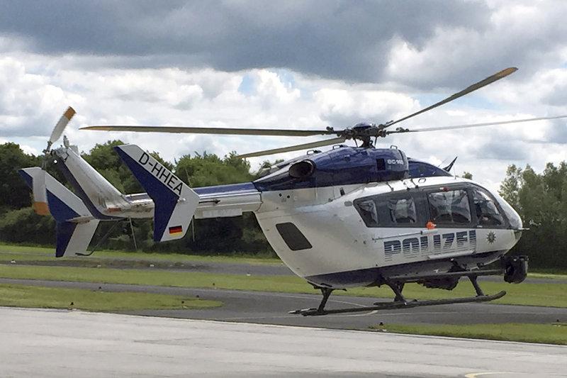 Hubschrauber der Polizeifliegerstaffel Egelsbach. – Bild: HR