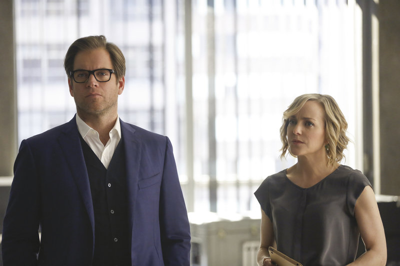 Pictured L-R: Michael Weatherly as Dr. Jason Bull and Geneva Carr as Marissa Morgan – Bild: 13th Street