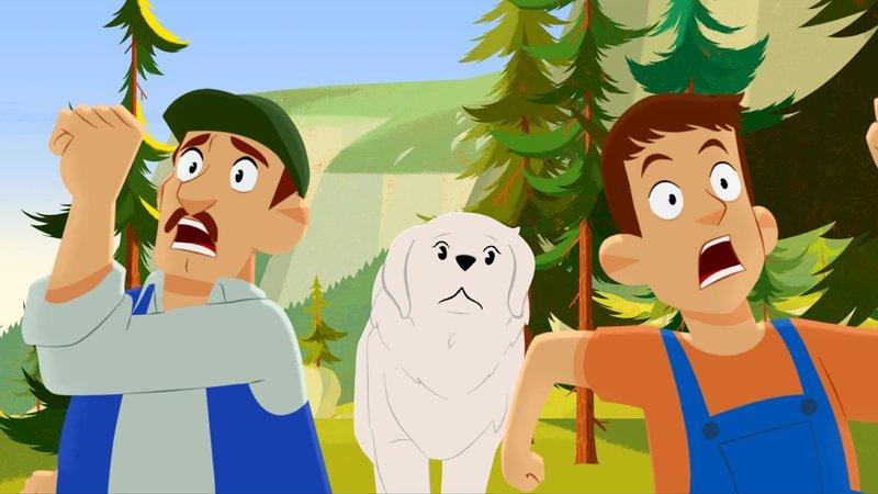 Giovanni (links) und Martin (rechts) haben Angst vor Belle. – Bild: KiKA