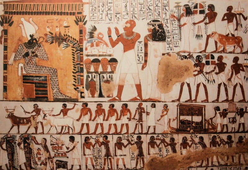 mural in tutankhamun tomb, egypt – Bild: Pixabay License Free for commercial use No attribution required