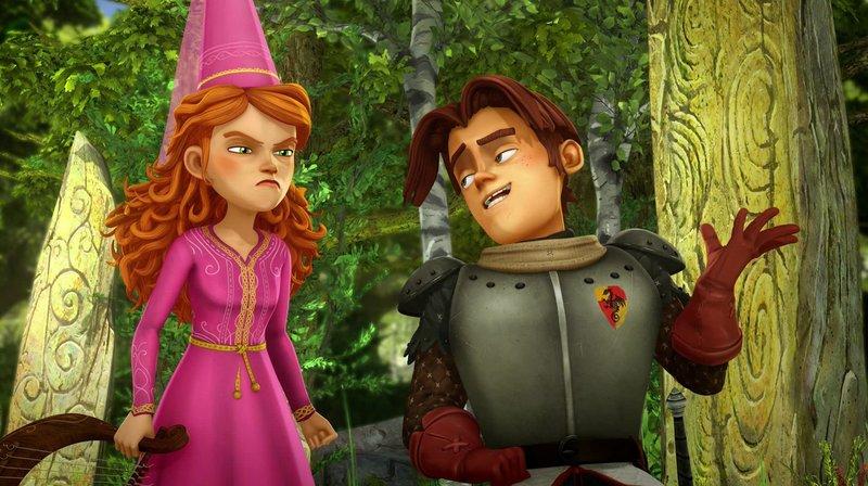 Gawain glaubt Guinevere nicht, dass sie einen Geist gesehen hat. – Bild: SWR/Blue Spirit Productions/Télé