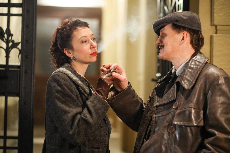 Ursula Strauss (Lena), Georg Friedrich (Rudi Smekal). – Bild: ORF