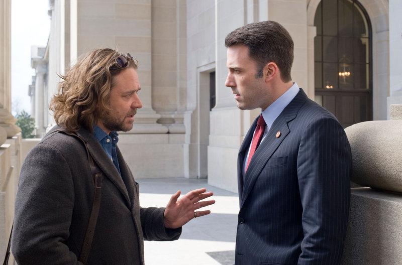 Russell Crowe (Cal McAffrey), Ben Affleck (Stephen Collins). – Bild: ORF