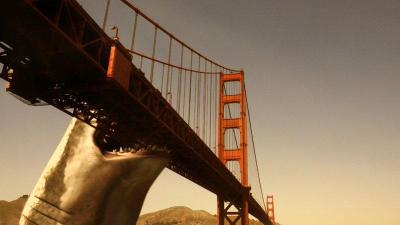 Ein gigantischer Urzeithai treibt vor der kalifornischen Küste sein Unwesen. – Bild: RRS