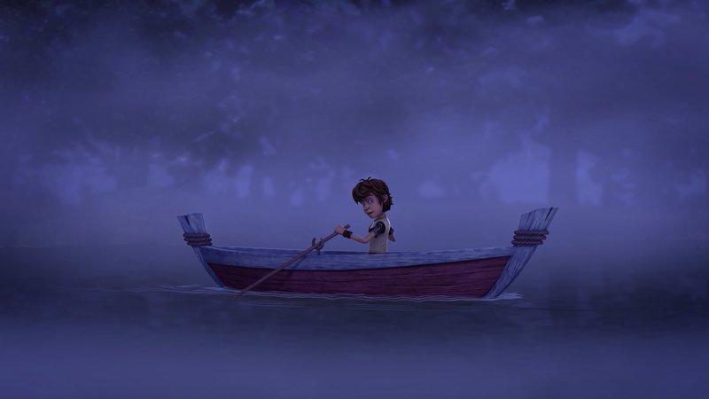 Um einen bösen Zauber zu brechen, muss Arthur Wasser aus dem Feensee besorgen. – Bild: SWR/Blue Spirit Productions/TĂ©lĂ©TOON+/Canal+