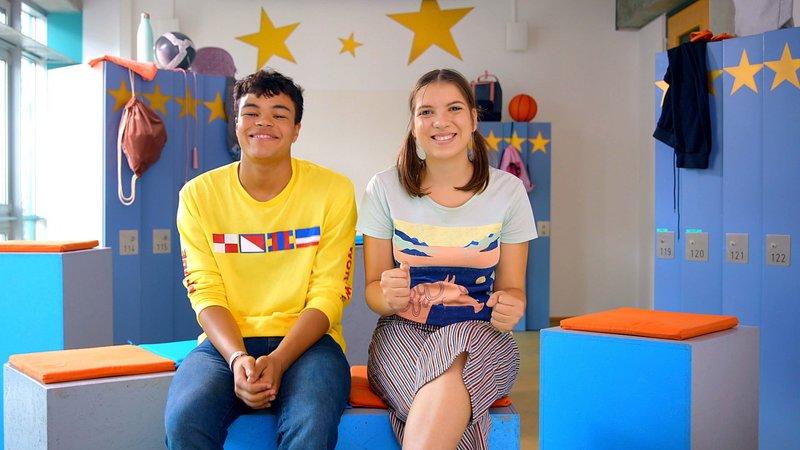 Rocco (Malcom Meckert), Emily (Nevena Schöneberg) – Bild: Nickelodeon