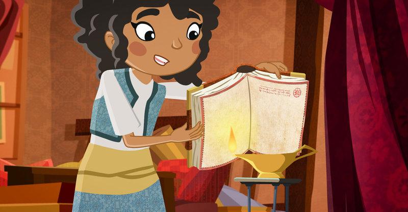 """""""Die Abenteuer des jungen Marco Polo"""", """"Auf der Suche nach Nineveh."""" Marco und seine Freunde entdecken im Tagebuch seines Vaters ein geheime Karte. Sie zeigt eine Route, die zu der versunkenen Wüstenstadt Nineveh zu führen scheint. Gemeinsam mit Hasinah, einem jungen Mädchen, das ihnen beim Entschlüsseln der Tagebucheintragung geholfen hat, machen sich die Freunde auf den Weg. Doch diese Stadt birgt viele Abenteuer und Hindernisse. – Bild: ORF"""