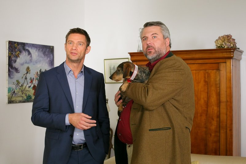 L-R: Sven Hansen (Igor Jeftic) and Anton Stadler (Dieter Fischer) – Bild: ORF 2