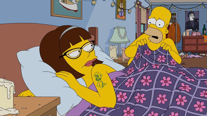 """""""Die Simpsons"""", """"Traumwelten."""" Nach der Diagnose einer ernsthaften Erkrankung werden Homer Medikamente verschrieben. Anstatt diese umgehend zu besorgen, lässt sich Homer jedoch lieber in Moes Bar volllaufen. Marge ist derart entsetzt über Homers Nachlässigkeit, dass sie sich nach einem Riesenkrach schlussendlich sogar von ihm trennt. Während Homer daraufhin der 20-jährigen Apothekerin Candace verfällt, lässt sich Marge mit einem gut situierten Mann ein, der für Candace ebenfalls kein Unbekannter ist. – Bild: ORF eins"""