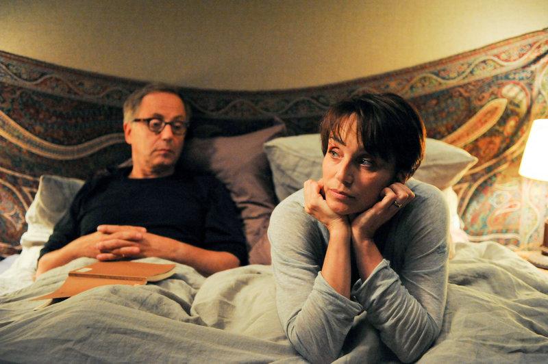 Fabrice Luchini (Germain Germain), Kristin Scott Thomas (Jeanne Germain). – Bild: ORF