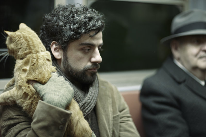 Llewyn Davis (Oscar Isaac) unterwegs mit Katze in der New Yorker U-Bahn. – Bild: ZDF und Alison Rosa