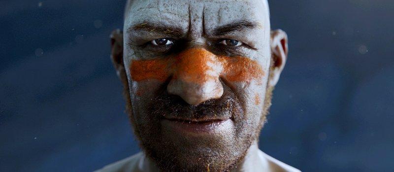 Ned der Neandertaler (Andy Serkis) – Bild: GEO Television