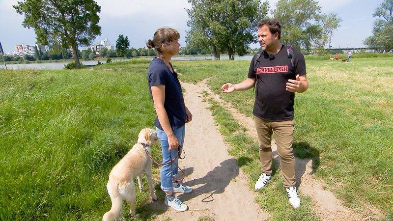 Martin Rütter besucht Corinna und ihren Labradoodle Lola. – Bild: TVNOW / Mina Tv