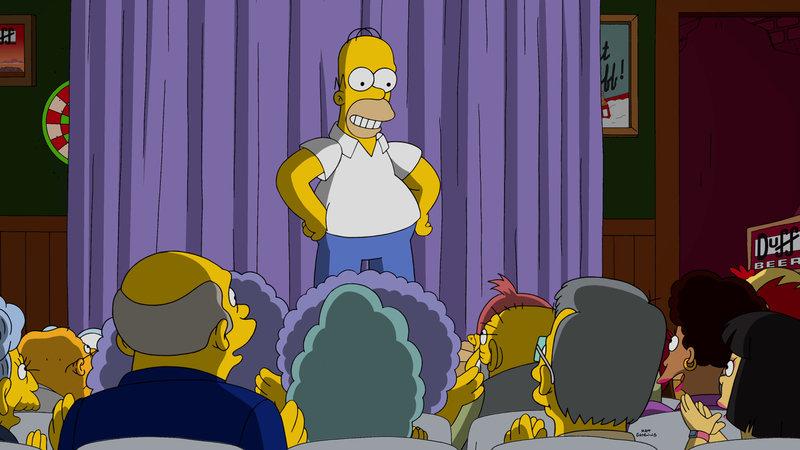 Wird Homer ein gefeierter Impro-Star werden? – Bild: 2015 Fox and its related entities. All rights reserved. Lizenzbild frei