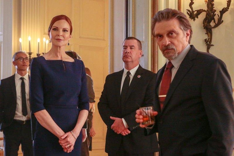 Marcia Cross (Claire Haas), Dennis Boutsikaris (Henry Roarke). – Bild: ORF 1