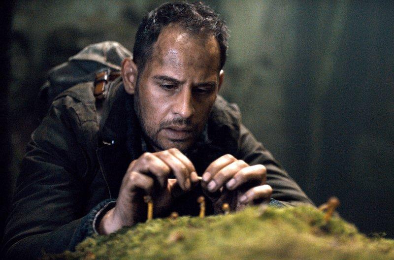 Er sucht im Wald nach einem Gegengift: Moritz Bleibtrei als Urs Blank – Bild: SWR/AlamodeFilm/Felix Cramer