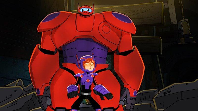 (L-R): Back: Baymax, Front: Hiro Hamada – Bild: Disney