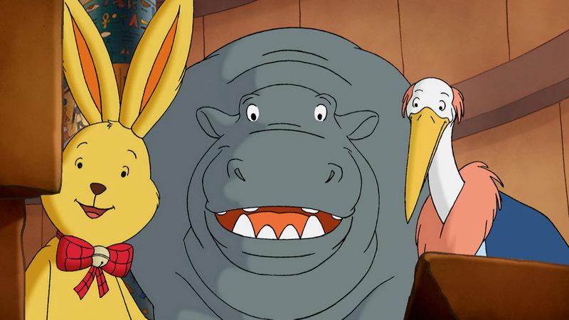 Im Gefängnis trifft Felix auf das Nilpferd und den Marabu, die ihm beim Ausbruch helfen. – Bild: ZDF/ndF