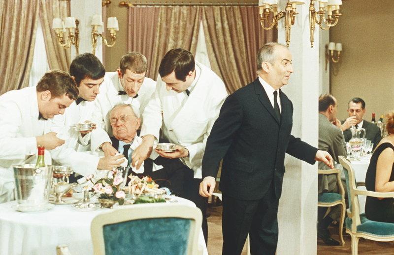 Das Restaurant von Monsieur Septime (Louis des Funès, r.) ist für seinen Rundum-Service berühmt ... – Bild: 2003 Sony Pictures Television International Lizenzbild frei