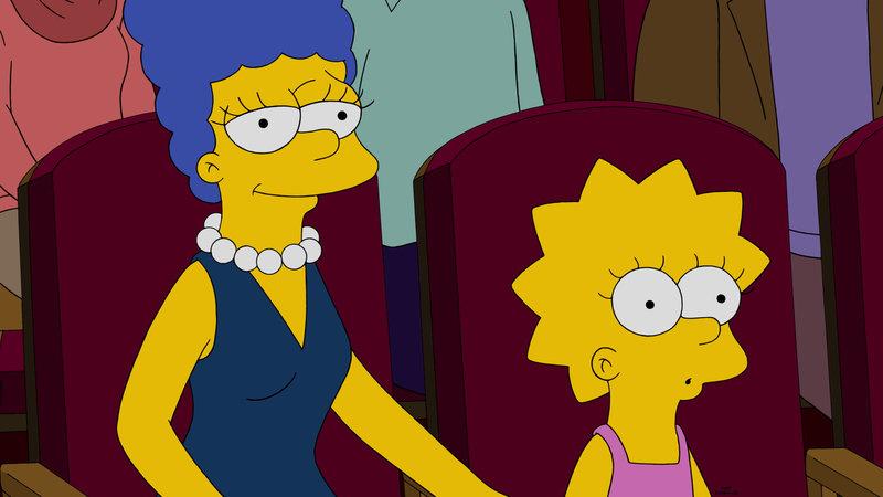 Nachdem Lisa (r.) mitbekommen hat, dass ihre Mutter Marge (l.) Jazz nicht leiden kann und ihr jahrelang was vorgelogen hat, ist sie sehr enttäuscht. Für Marge ist es eine harte Aufgabe, ihre Tochter wieder für sich zu gewinnen ... – Bild: 2015 Fox and its related entities. All rights reserved. Lizenzbild frei