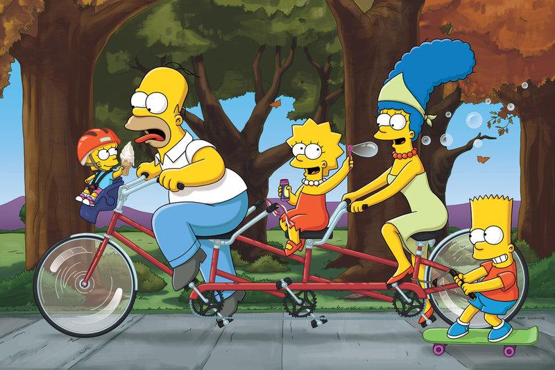 (v.l.n.r.) Maggie; Bart; Lisa; Marge; Bart – Bild: ProSieben