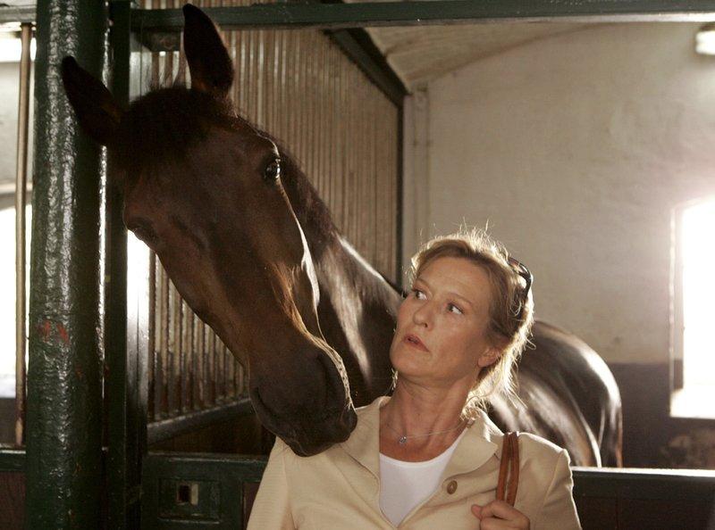 Pferde sind der Finanzbeamtin Katharina Kamp (Suzanne von Borsody) nicht ganz geheuer - doch das ändert sich bei einem Ortstermin auf einem Gestüt. – Bild: ARD Degeto/ARD Degeto/Frank Dicks