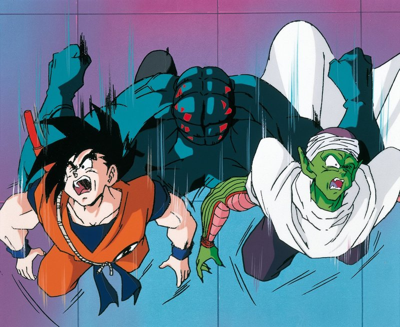 (v.l.n.r.) Son Goku; Piccolo – Bild: 1989 TOEI ANIMATION CO., LTD Lizenzbild frei