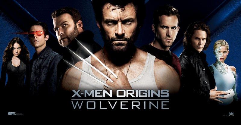 L-R: Silverfox (Lynn Collins), Scott Summers (Tim Pocock), Victor Creed (Liev Schreiber), Wolverine (Hugh Jackman), Wade Wilson (Ryan Reynolds), Gombit (Taylor Kitsch) und Emma Frost (Tahyna Tozzi). – Bild: 4+