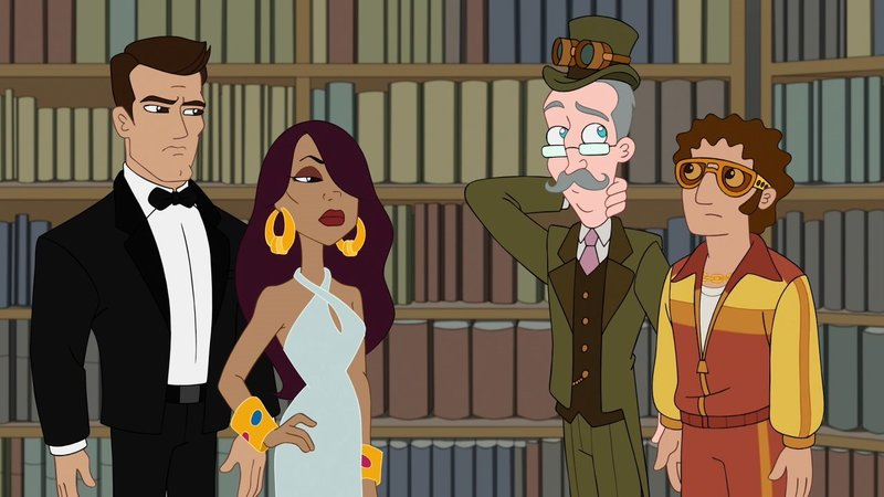 L-R: Brick (voiced by Brett Dalton), Savannah (voiced by Ming-Na Wen), Cavendish (voiced by Jeff 'Swampy' Marsh), Vinnie Dakota (voiced by Dan Povenmire) – Bild: Disney Channel (DE)