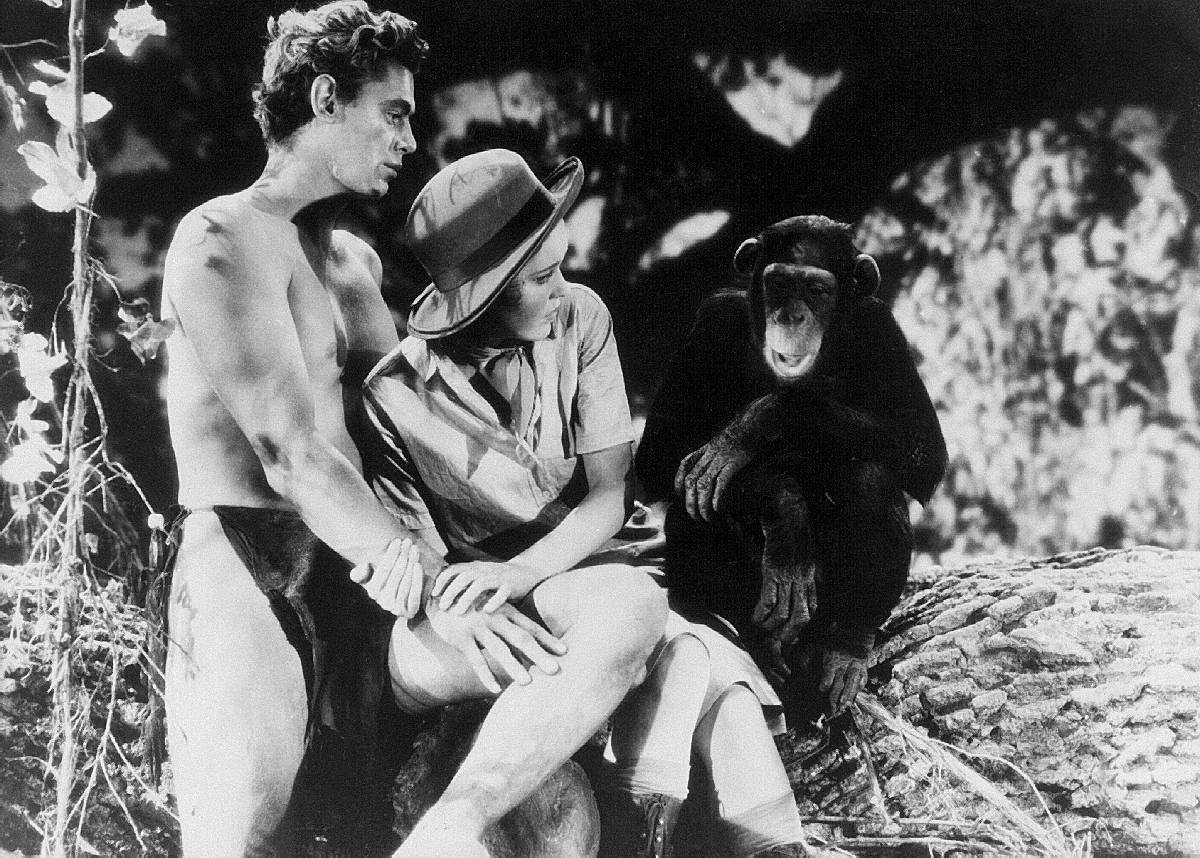 Tarzan entfuehrt Jane, die Tochter des Forschers. – Bild: SF DRS