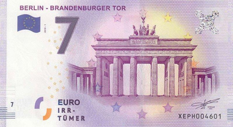 Die sieben größten Irrtümer des Euro – ein fiktiver Geldschein, der auf die Konstruktionsfehler des Euro aufmerksam machen soll. – Bild: ZDF und Clara Gienger.