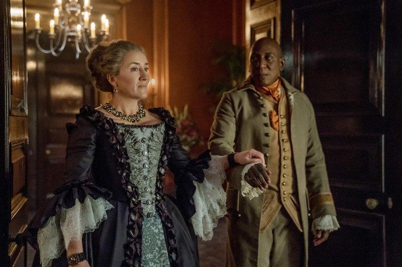 Jocasta (Maria Doyle Kennedy), Ulysses (Colin McFarlane) – Bild: MG RTL D / © 2018 Starz En