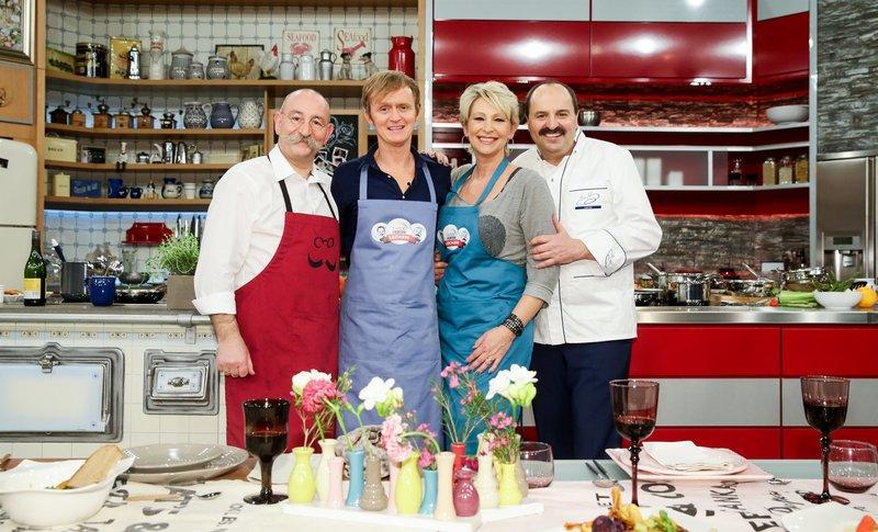 Horst Lichter, Pierre M. Krause, Claudia Jung und Johann Lafer. – Bild: ZDF und Ulrich Perrey