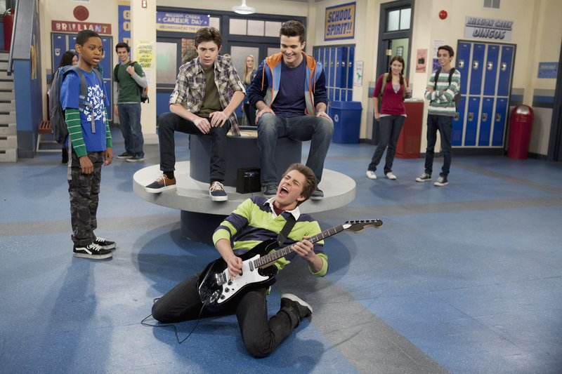 L-R: Tyrel Jackson Williams as Leo Dooley, Mateus Ward as Marcus Davenport, Spencer Boldman as Adam Davenport and William Brent Unger as Billy Unger – Bild: Bruce Birmelin / DISNEY CHANNEL / DISNEY CHANNEL / © 2012 Disney Enterprises, Inc. All rights reserved.