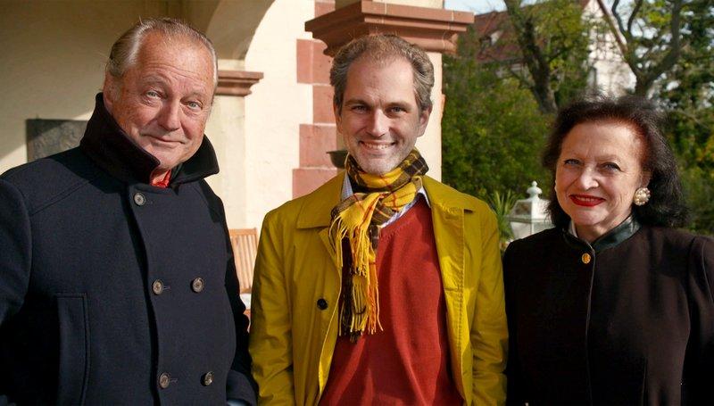 v.li.: Hans-Georg von Mallinckrodt, Goswin von Mallinckrodt und Nicole von Mallinckrodt. – Bild: SWR