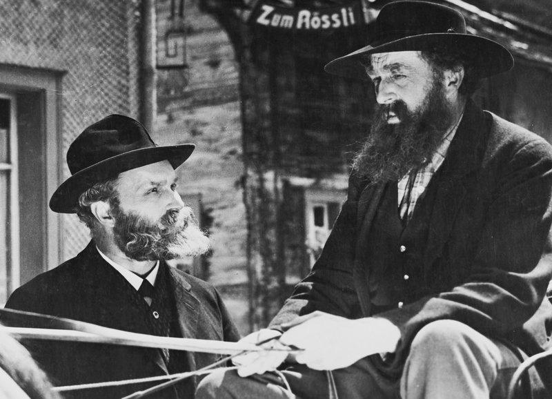 Kommen einander ins Gehege - Otto Bosshard als Louis Favre, Adolf Manz als Johannes Zgraggen. – Bild: ZDF und SF