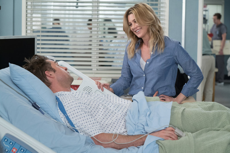 Scott Speedman (Dr. Nick Marsh), Ellen Pompeo (Dr. Meredith Grey). – Bild: ORF eins