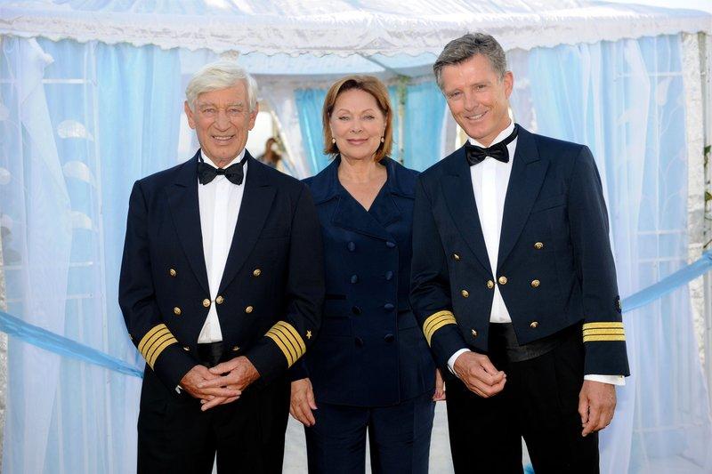 Siegfried Rauch (Kapitän Paulsen), Heide Keller (Beatrice), Nick Wilder (Dr. Wolf Sander). – Bild: SRF 1