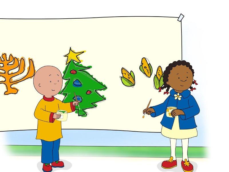 Caillou Weihnachten.Caillou S02e04a Frohliche Weihnachten Caillou Goes