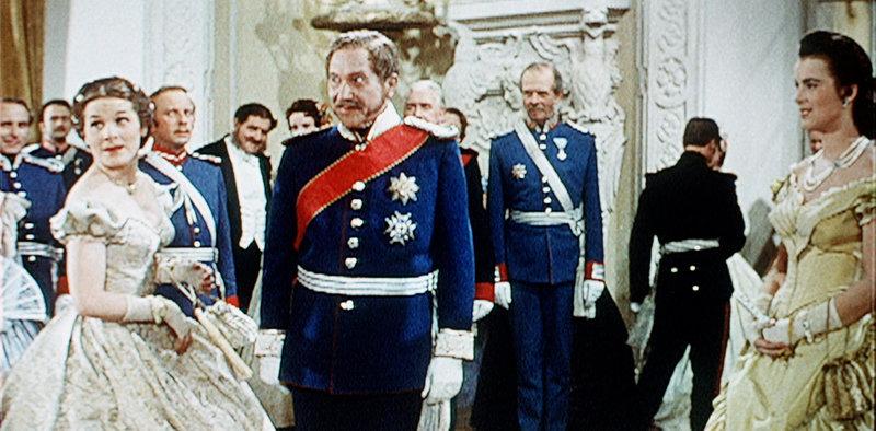 (Prinzessin Elisabeth, genannt Sissy), Hans Fitz (König Max II.), Marianne Koch (Theres Tomasoni). – Bild: BR Fernsehen