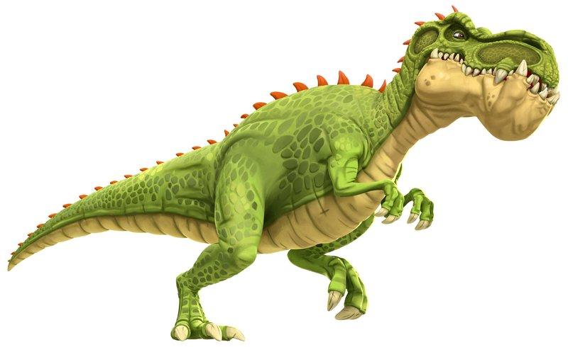 Um den furchteinflößenden und faszinierenden Gigantosaurus rankt sich ein Mysterium, da niemand sich traut, ihn wirklich zu erforschen. Deshalb machen sich die vier Dinosaurierfreunde Rocky, Billy, Tiny und Manu auf in ein Abenteuer, um Licht ins Dunkle zu bringen. – Bild: Super RTL