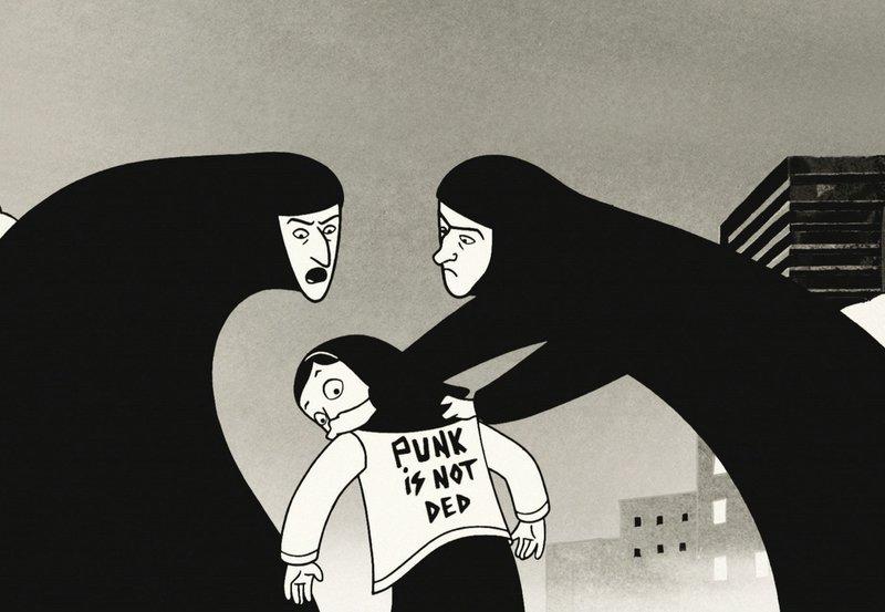 In der Schule ist die kleine Punkerin Marjane Repressionen durch ihre fanatischen Lehrerinnen ausgesetzt. – Bild: ARD Degeto