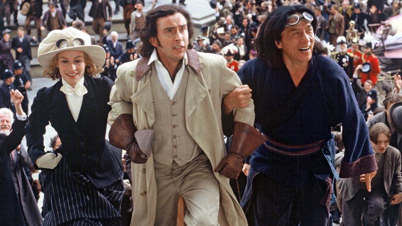 Der Wissenschaftler Phileas Fogg (Steve Coogan, Mitte), Monique (Cécile de France) und Passepartout (Jackie Chan, re.) wollen die Welt in 80 Tagen umrunden.. – Bild: RTL Zwei