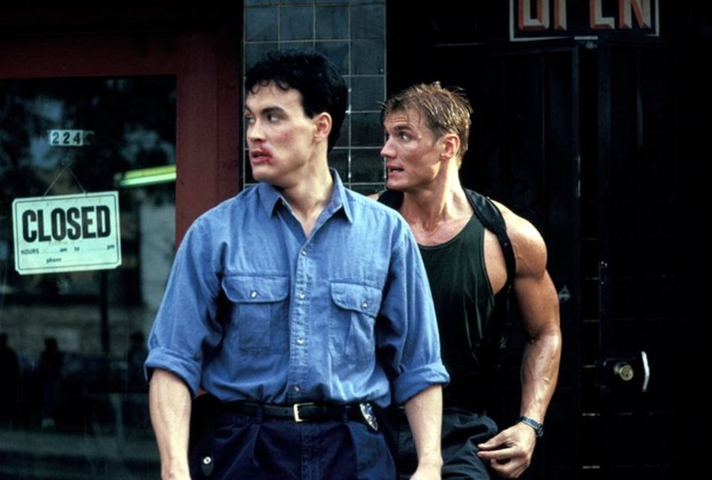 Gemeinsam mit seinem neuen Partner Johnny Murata (Brandon Lee, l.) startet Chris (Dolph Lundgren, r.) einen persönlichen Rachefeldzug gegen die Yakuza-Mafia ... – Bild: 1991 Warner Brothers Lizenzbild frei