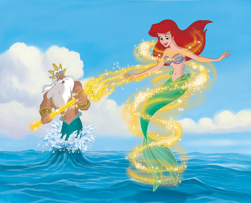 The Little Mermaid (R) and her father King Triton – Bild: DISNEY CHANNEL