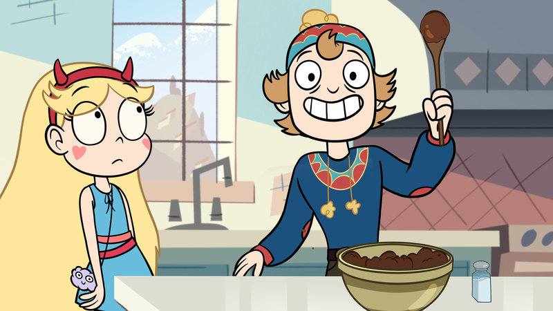 """STAR VS. THE FORCES OF EVIL - """"The Other Exchange Student"""" - The Diaz family's charming former exchange student, Gustav, comes to visit and Star is convinced that he has an evil motive for returning. This episode of """"Star vs. The Forces of Evil"""" premieres Monday, April 6 (8:00 p.m., ET/PT) on Disney XD. (Disney XD) STAR, GUSTAV – Bild: 2015 Disney Enterprises, Inc. All rights reserved."""