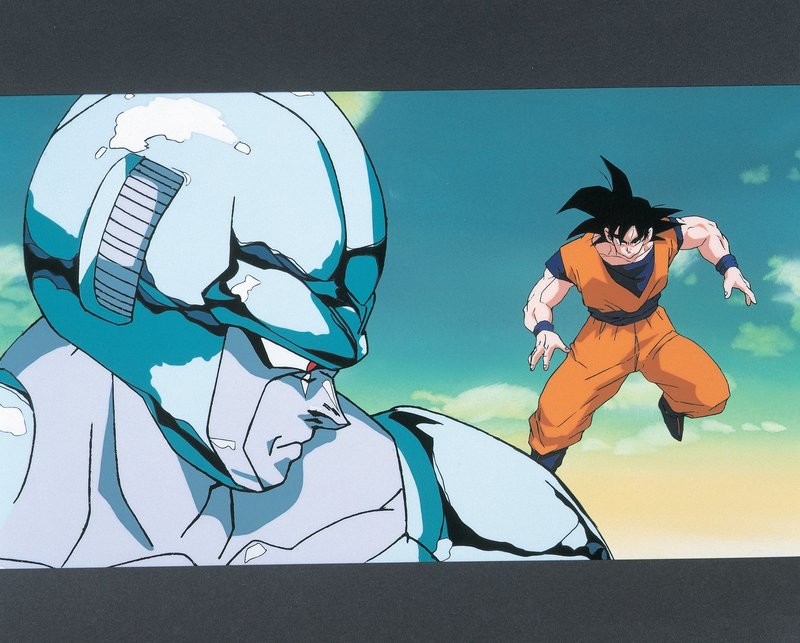 (v.l.n.r.) Metall-Cooler; Son Goku – Bild: 1992 TOEI ANIMATION CO., LTD. Lizenzbild frei