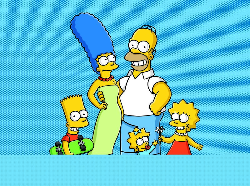 (23. Staffel) - Eine ganz besondere Familie: Maggie (vorne), Marge (2.v.l.), Homer (2.v.r.), Bart (l.) und Lisa Simpson (r.) ... – Bild: und TM Twentieth Century Fox Film Corporation - Alle Rechte vorbehalten Lizenzbild frei
